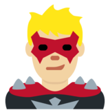 Man Supervillain: Medium-Light Skin Tone on Twitter Twemoji 13.0.1