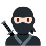 Ninja: Light Skin Tone on Twitter Twemoji 13.0.1