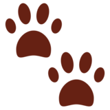 Paw Prints on Twitter Twemoji 13.0.1