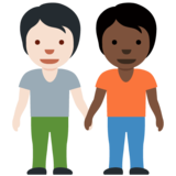 People Holding Hands: Light Skin Tone, Dark Skin Tone on Twitter Twemoji 13.0.1