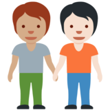 People Holding Hands: Medium Skin Tone, Light Skin Tone on Twitter Twemoji 13.0.1