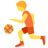 Person Bouncing Ball on Twitter Twemoji 13.0.1