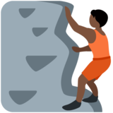 Person Climbing: Dark Skin Tone on Twitter Twemoji 13.0.1