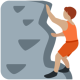 Person Climbing: Medium Skin Tone on Twitter Twemoji 13.0.1