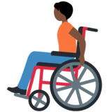 Person in Manual Wheelchair: Dark Skin Tone on Twitter Twemoji 13.0.1