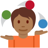 Person Juggling: Medium-Dark Skin Tone on Twitter Twemoji 13.0.1