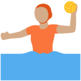 Person Playing Water Polo: Medium Skin Tone on Twitter Twemoji 13.0.1