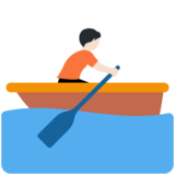 Person Rowing Boat: Light Skin Tone on Twitter Twemoji 13.0.1