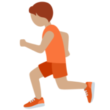 Person Running: Medium Skin Tone on Twitter Twemoji 13.0.1