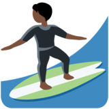 Person Surfing: Dark Skin Tone on Twitter Twemoji 13.0.1