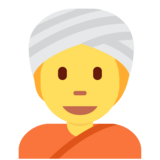 Person Wearing Turban on Twitter Twemoji 13.0.1
