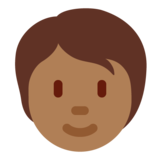 Person: Medium-Dark Skin Tone on Twitter Twemoji 13.0.1