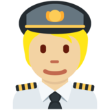 Pilot: Medium-Light Skin Tone on Twitter Twemoji 13.0.1