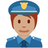 Police Officer: Medium Skin Tone on Twitter Twemoji 13.0.1