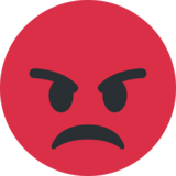 Pouting Face on Twitter Twemoji 13.0.1