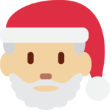 Santa Claus: Medium-Light Skin Tone on Twitter Twemoji 13.0.1