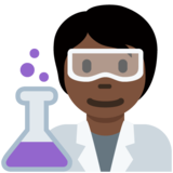 Scientist: Dark Skin Tone on Twitter Twemoji 13.0.1