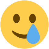 Smiling Face with Tear on Twitter Twemoji 13.0.1