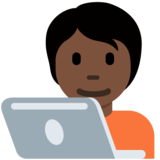 Technologist: Dark Skin Tone on Twitter Twemoji 13.0.1
