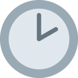 Two O'Clock on Twitter Twemoji 13.0.1