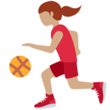 Woman Bouncing Ball: Medium Skin Tone on Twitter Twemoji 13.0.1