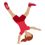 Woman Cartwheeling: Medium Skin Tone on Twitter Twemoji 13.0.1