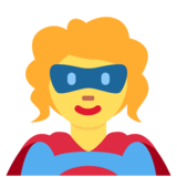 Woman Superhero on Twitter Twemoji 13.0.1