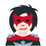 Woman Supervillain: Light Skin Tone on Twitter Twemoji 13.0.1