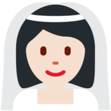 Woman with Veil: Light Skin Tone on Twitter Twemoji 13.0.1
