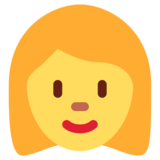 Woman on Twitter Twemoji 13.0.1