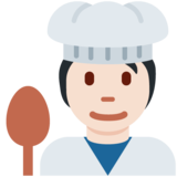 Cook: Light Skin Tone on Twitter Twemoji 13.0.2