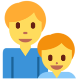 Family: Man, Boy on Twitter Twemoji 13.0.2