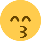Kissing Face with Smiling Eyes on Twitter Twemoji 13.0.2