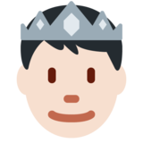 Prince: Light Skin Tone on Twitter Twemoji 13.0.2