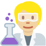 Scientist: Medium-Light Skin Tone on Twitter Twemoji 13.0.2