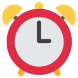 Alarm Clock on Twitter Twemoji 1.0