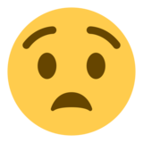 Anguished Face on Twitter Twemoji 1.0