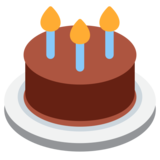 Birthday Cake on Twitter Twemoji 1.0
