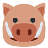Boar on Twitter Twemoji 1.0