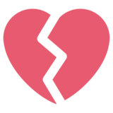 Broken Heart on Twitter Twemoji 1.0