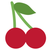 Cherries on Twitter Twemoji 1.0