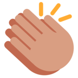 Clapping Hands on Twitter Twemoji 1.0