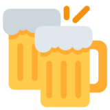 Clinking Beer Mugs on Twitter Twemoji 1.0