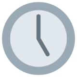 Five O'Clock on Twitter Twemoji 1.0