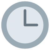 Three O'Clock on Twitter Twemoji 1.0