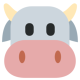 Cow Face on Twitter Twemoji 1.0