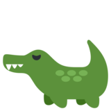Crocodile on Twitter Twemoji 1.0
