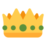 Crown on Twitter Twemoji 1.0