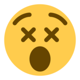 Dizzy Face on Twitter Twemoji 1.0
