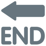 End Arrow on Twitter Twemoji 1.0